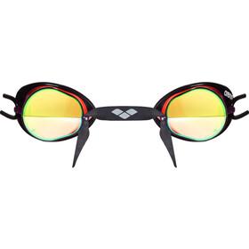 arena Swedix Mirror Okulary pływackie, red-yellow-black